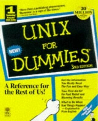 UNIX For Dummies by Levine Paperback Book The Cheap Fast Free Post