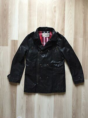 Girls Burberry Black Jacket Size 10 Years Coat Trench