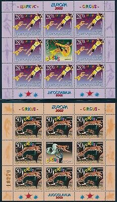 YUGOSLAVIA 1969/2002 EUROPA CEPT SHEETLETS - each available to buy seperately