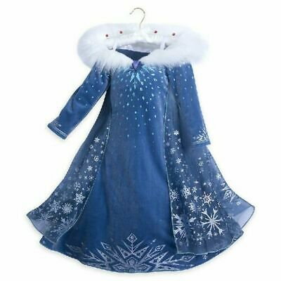 Girls 2019 Frozen 2 Princess Elsa Fancy Dress Up Cosplay Costume Party Outfit