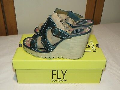 Fly London ankle boots Meli Petrol  RRP £120.00