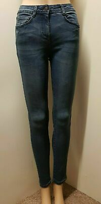 "Women`s New NEXT Skinny Stretch Mid Rise Jeans UK Size 10 Long, 31"" Leg Mid Blue"