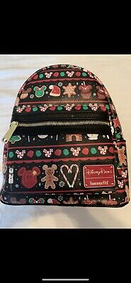 Disney Parks Holiday Snacks Candy Apples Christmas  Loungefly Backpack 2019