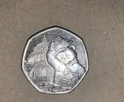New 2019 Paddington Bear At St Paul's Cathedral & The Tower Of London 50P Coin's