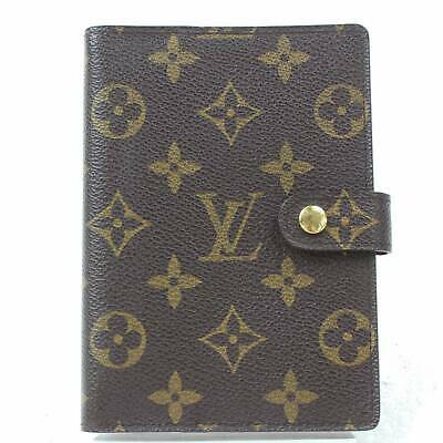 Authentic Louis Vuitton Diary Cover Agenda PM Browns Monogram 1202326