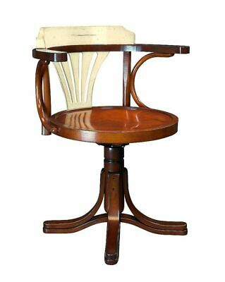 Desk Chair, Viennese Bentwood Chair,Captain Chair with White Backrest