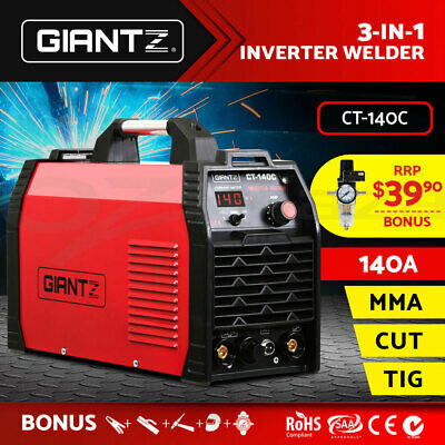 Giantz Inverter Welder DC TIG MMA ARC Plasma Cutter Portable Welding Machine