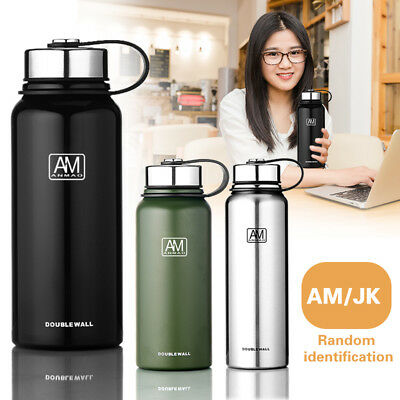 Double Walled Vacuum Insulated Stainless Steel Water Drinks Sport Bottle - AU