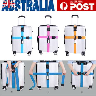 Adjustable Suitcase Cross Luggage Strap Password Secure Lock Travel Baggage Belt
