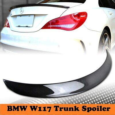 FOR 13-18 BENZ CLA45 AMG CLA250 C117 CARBON FIBER ACCENT TRUNK LID SPOILER WING