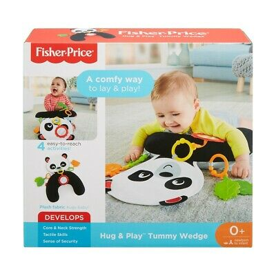 Fisher-Price Hug and Play Tummy Wedge Kid's Tummytime Toy With Mirror & Teether
