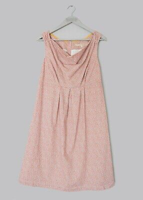 JOULES Lila Trapeze Dress Cream Inky Ditsy 100/% cotton BNWT NEW