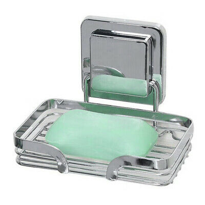 Bathroom One Layer Soap Dish Holder Bath Shower Tray Sponge Drain Storage Rack