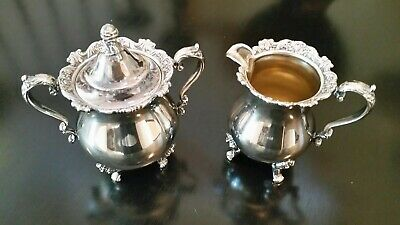 Wallace Royal Rose Silverplate Silver Plate Coffee/Tea Set Pieces Excellent Con.