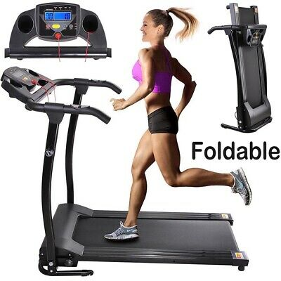 Folding Treadmill Electric Power Running Jogging Fitness Machine Low Noise motor