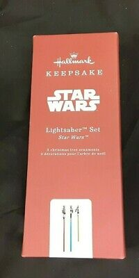 New Hallmark Keepsake 2019 Star Wars Metal Ornament Lightsabers Free Shipping