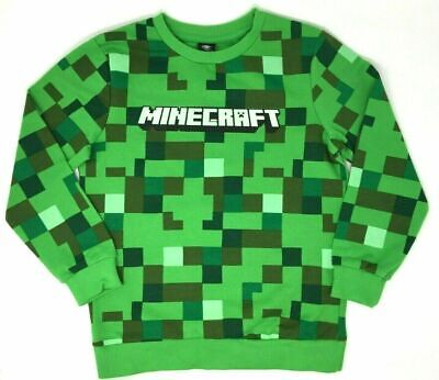 New Kids Boys Minecraft Jumper Sweatshirt Long Sleeved Top Age 5-10 Years