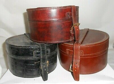 Genuine Leather Stiff Collar Box. *3 Colours* Made in England.