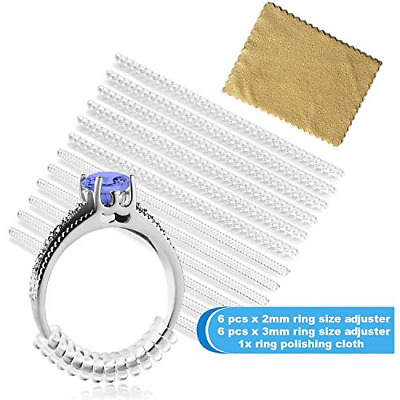 9ct Yellow Gold Ring Clip Reducer Adjuster  Re-Sizer Fits 2mm Wide Ring Shanks