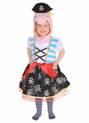 Peppa Pig the Pirate fancy dress costume BNWT Girls 3-5yrs Padded Character Hood