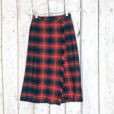 Imy for girls school girl wrap plaid skirt 6 Red Holidays Youth