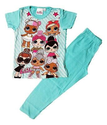 LOL SURPRISE Girls Pyjamas Dolls PJs PJ Set Short Sleeve Snuggle Fit Kids Cotton