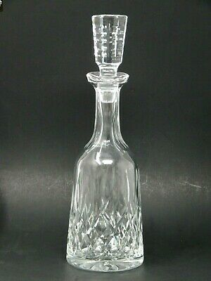 """Waterford Crystal Wine Decanter Tall Carafe Bottle w Stopper 13"""" Lismore"""