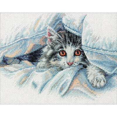 """Siamese Cat 2 Complete Counted Cross Stitch Kit 8.8/""""x8/"""" 14 Count"""