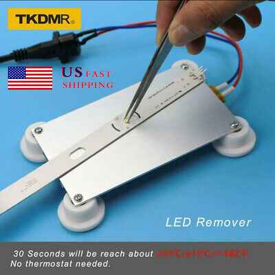 300W Aluminum LED Remover PTC Heating Weld BGA Solder Ball Station Split Plate