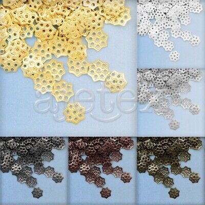 10g DIY Bracelet End Spacer Perles Bouchons Charm Bijoux Caps 6x6x1mm