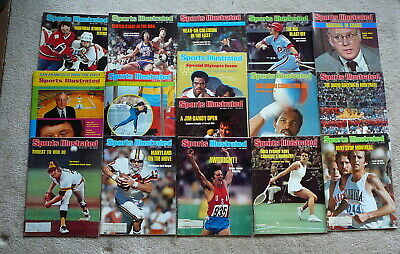SPORTS ILLUSTRATED MAGAZINE  - 16 Vintage ISSUES 1972  and 1976 VG - LOT #71