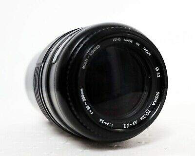 Vintage SIGMA 55-200mm F4-5.6 MC ZOOM Lens for CANON EOS film SLR fit
