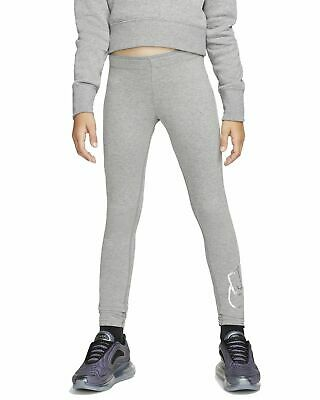 Nike Mädchen Sport-Leggings Fitnesshose Trainingshose NIKE NSW Legging carbon
