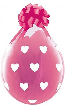 "Qualatex 18"" Clear Stuffing Balloons Big Hearts for Stuffing Machines"
