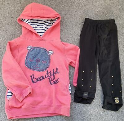 Toddler Girls 2 Piece Outfit, Hooded, Sweat Top/Leggings   2-3 Years
