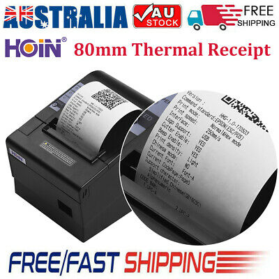 HOIN 80mm USB Thermal Receipt POS Printer Auto Cutter ESC/POS Print for Store AU
