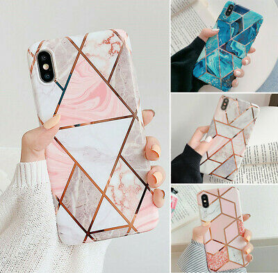 Geometric Marble Case For iPhone 11 Pro 6s 7 8 Plus XR XS Max Soft Pastel Cover