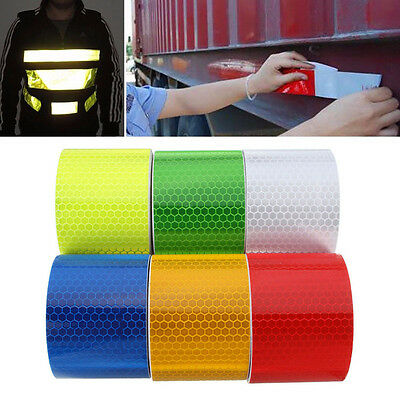 New Safety Reflective Self Adhesive Hazard  Caution Warning Tape Sticker