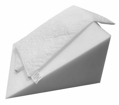 Reclining Quilted Orthopedic Foam Bed Wedge Back Support Pillow Aid Reliever UK