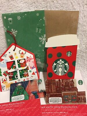 Starbucks Japan coffee holiday 2019 Gift Card set new pin intact Christmas f/s 2