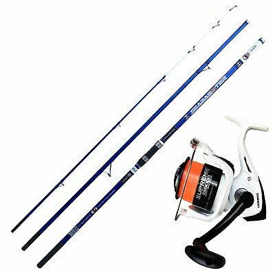 KP4241 Kit Pesca Surfcasting Evo Canna Seabasster Mulinello Supreme 8000 RNG