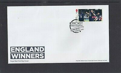 GB 2019 Women's Cricket single 1st stamp FDC London NW8 bat special pmk