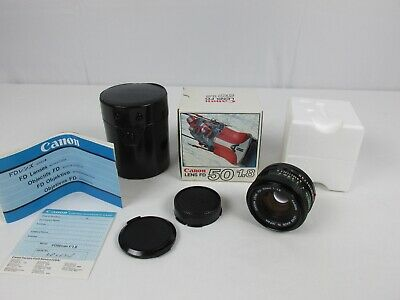 Canon FD 50mm F/1.8 NFD MF Prime Lens FD Mount For Canon Camera EXCELLENT