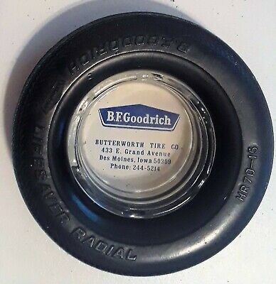 B.F.Goodrich adv. Tire Ashtray Des Moines Iowa
