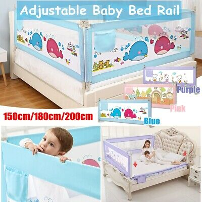 Children's Safety Seamless 12-gear Adjustment Bed Guardrail Vertical Lifting