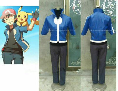 Details about  /HOT Pokemon Trainer Cosplay Red uniform jacket Costume custom