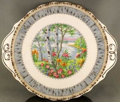 Royal Albert Silver Birch Cake Plate Large Picture