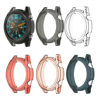 Clear Thin TPU Protector Bumper Watch Frame Funda para Huawei-Watch GT2 46mm New