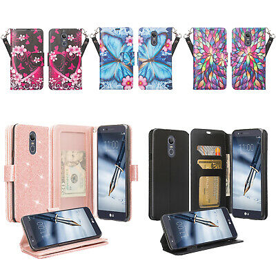 LG Escape Plus,K30 2019,Arena2  Girl Women Pu Leather Wallet Case with Kickstand