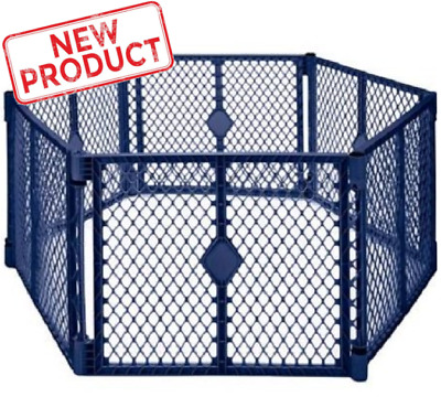 Baby Panel Playpen Toddler Safety Portable Infant Play Yard Indoor Outdoor Blue